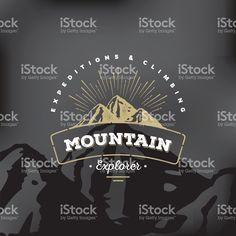 Black Mountain-Abzeichen vektor illustration 79217731 - iStock