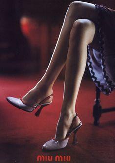 Part of the Miu Miu S/S 1998 advertising campaign. Photographer: Glen Luchford. Model: Zora Star.