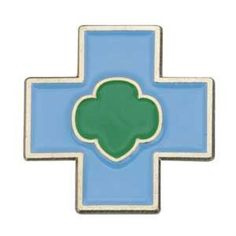 Daisies don't have a First Aid badge, so to speak, but they do have a safety award pin they can earn. It's a cute little blue cross wit...
