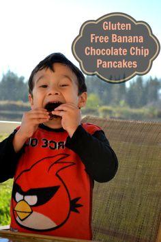 gluten free banana chocolate chip pancakes recipe