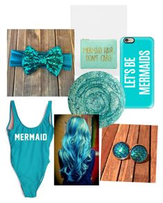 Let's be mermaids! by saram0223 on Polyvore featuring polyvore, fashion, style, Casetify, ASOS, Deborah Lippmann, bleu, women's clothing, women's fashion, women, female, woman, misses and juniors