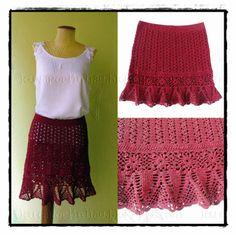 louca por linhas - crochet e patchwork: Saia Denise