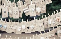 Nice Wedding Place Cards Ideas With The Great Attention To Details In These Name Cards From This Wedding In Wedding Cards