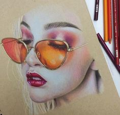 """Prismacolor on Instagram: """"When drawing transparent objects make sure to layer colors to provide depth. --- @jennaportraitartist"""""""