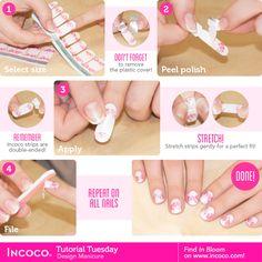 c9c89941465 How to apply Malika incoco nail wraps