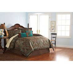 Better Homes and Gardens Paisley Jacquard Comforter Set