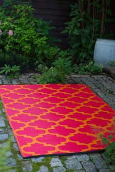 Tangier Reversible Indoor/Outdoor Rug - Orange Peel/Rouge Red by Fab Habitat on @HauteLook