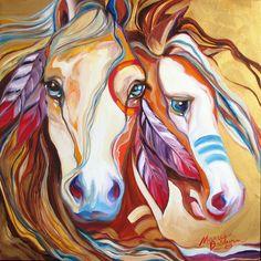 War Ponies Two by Marcia Baldwin  |  ⁂ Spirit Animals ⁂