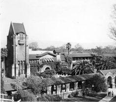 Tower Hall and the quad. :: John C. Gordon Photographic Collection (SJSU)