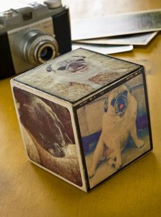 DIY Photo Transfer Projects- Tutorials, including this Instagram photo transfer cube by Mod Podge Rocks!