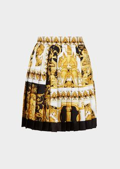 Versace Pleated Barocco SS 92 print Skirt for Women   US Online Store.  Pleated 356e734f221