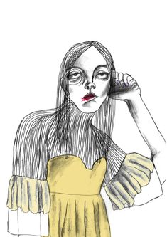 Fashion Illustration Speed Painting with Ink - Drawing On Demand Face Illustration, Fashion Illustration Sketches, Fashion Sketchbook, Character Illustration, Fashion Sketches, Fashion Drawings, Fashion Portfolio, Sketchbook Inspiration, Illustrations And Posters