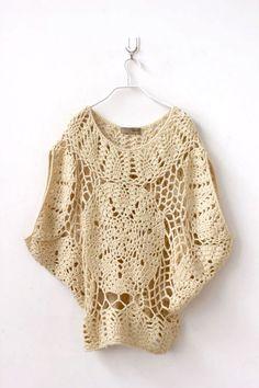 Crochet Patterns – Make My Day Creative Crochet Tank Tops, Crochet Shirt, Crochet Poncho, Crochet Woman, Love Crochet, Vintage Crochet, Kawaii Crochet, Crochet Fashion, Crochet Clothes