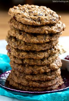 Thick and Chewy Oatmeal Cranberry Cookies