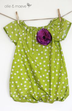 Chartreuse and Plum Bubble Dress