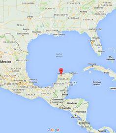 Las Coloradas Mexico Map.Progreso Yucatan Mexico Cruise Port Map Progreso Merida Mexico