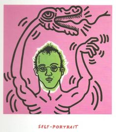 Self portrait. Keith Haring.