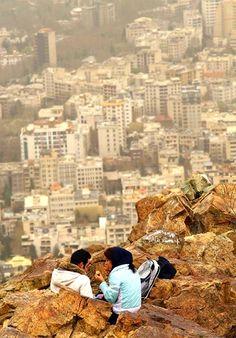 having a picnic in Tehran, Iran