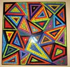 Dit is een driehoek compositie maar hier zit ook herhaling in Alexander Calder, Foundation Piecing, Paper Piecing Patterns, Adult Coloring, Unity, Stained Glass, Pop Art, Glass Art, Graphic Design