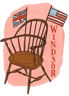 History of Windsor Chairs    Illustration by Julia Rothman:   http://www.juliarothman.com