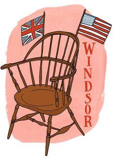 History of Windsor Chairs    Illustration by Julia Rothman:   http://www.juliarothman.com
