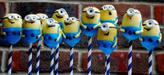 Despicable Me 'Minion' cake pops  www.cupcakesbylouise.co.uk