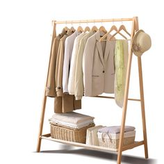 Apr 2020 - New Wooden Garment Coat Clothes Stand Rack Hat Jacket Bag Shoe Hanger Holder - 0615517374867 For Sale, Buy from Clothes Racks collection at MyDeal for best discounts. Shoe Hanger, Hanger Rack, Clothes Hanger, Shoe Rack, Wooden Clothes Rack, Wooden Coat Hangers, Wooden Rack, Cloth Hanger Stand, Jacket Hanger