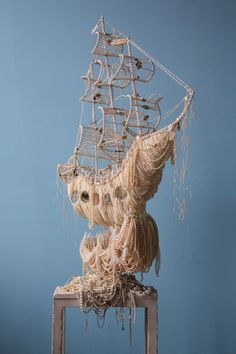 A Sailing Ship Dripping with Loot Explores the Perceived Status Symbol of Pearls by Ann Carrington