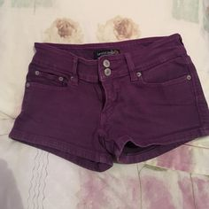 Levi's Short Shorts Purple short shorts, really comfortable. Levi's Shorts Jean Shorts