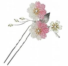 Amazon.com: POJ Traditional Japanese Hairpin Accessories (Kanzashi) [ Pink / Blue / Red ] Cosplay (Pink): Clothing