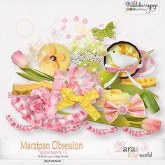 Marzipan Obsession Elements 1 by Lara´s Digi World only $1 during March 21-24