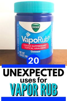 You'll be amazed at all of the crazy and helpful uses for that common childhood remedy--Vicks® Vapor Rub! Did you know about any of these?