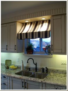 I so want to do this curtain thing in my kitchen window someday!