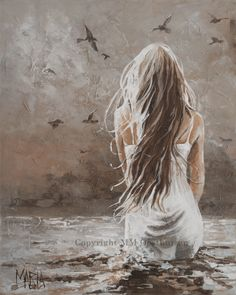 Your voice is in the wind Original Fine Art Painting by Maria Magdalena Oosthuizen. Medium: Acrylic on Canvas. Stretched, and Blocked, Not Framed. Dimensions: W