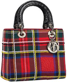 Dior - Lady Dior Red Medium Bag - Spring 2013 Tartan Collection
