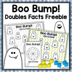 FREE! HALLOWEEN DOUBLES BUMP! Doubles to 20 by Carla Hoff | TpT Halloween Math, Halloween Themes, Board Games, Game Boards, Second Grade, Small Groups, Bump, Teaching, Activities