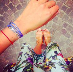 Un match perfetto: Veronica Ferraro di The fashion fruit & il bracciale della collezione Letterine di Pepenero Milano Gioielli! www.pepenerogioielli.com