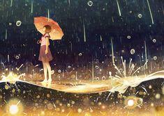 流星雨 / Meteor Shower (by げみ/Gemi on pixiv.net)