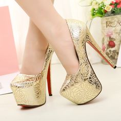 Aliexpress.com : Buy 14cm 16cm  tiangao banquet high heeled shoes shallow mouth platform  ultra high heels single shoes women's shoes  free shipping from Reliable working platform suppliers on Feline Fan's store. $54.43