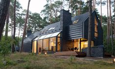 Black House Blues par Studija Archispektras - Kulautuva, Lituanie. Maison contemporaine atypique toute en noir  pour amateurs de blues