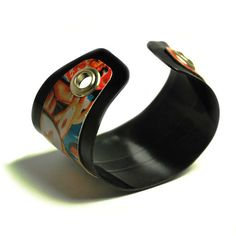 Vinyl Record Cuff Bracelet Handmade Jewelry by VintageVinylMerch