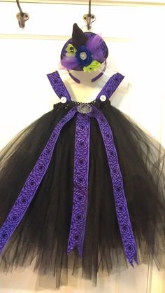 little girl or toddler witch/ purple by JoliPetitCreationz on Etsy, $30.00