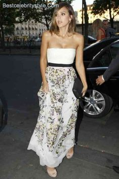 awesome Jessica Alba M.a.C &#; Giambattista Valli Floral Obsession Ball Style 2015