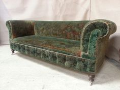 Beau #Antique #chesterfield #sofa In Original #carpetbag Upholstery Antique  Seating Specialists... Www.castleyardantiques.co.uk