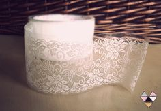 white lace tape..maybe to use on mason jars or something else? could be easier than gluing! from etsy- White Lace Tape Adhesive Transparent Sticker Vintage - Scrapbooking deco tape- Wedding- 10 different patterns- 5cmwidex15mlong