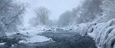 Clear Creek with spring snowstorm by Andrew Terrill.