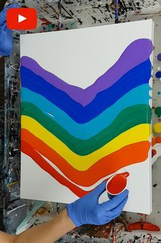 Rainbow Swipe Tutorial - Acrylic Pouring by Olga Soby from Smart Art Materials Rainbow Painting, Drip Painting, Rainbow Art, Acrylic Pouring Techniques, Acrylic Pouring Art, Drip Art, Smart Art, Diy Art Projects, Art For Art Sake