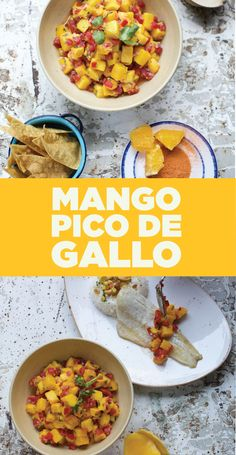 Mango Pico de Gallo Mango, White Onion, Get The Party Started, Chana Masala, Cilantro, Chili, Curry, Ethnic Recipes, Food