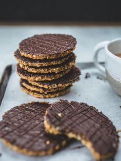 homemade chocolate hobnobs.