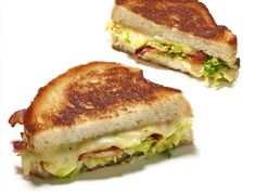 Brussels Sprout and Bacon Grilled Cheese from FoodNetwork.com